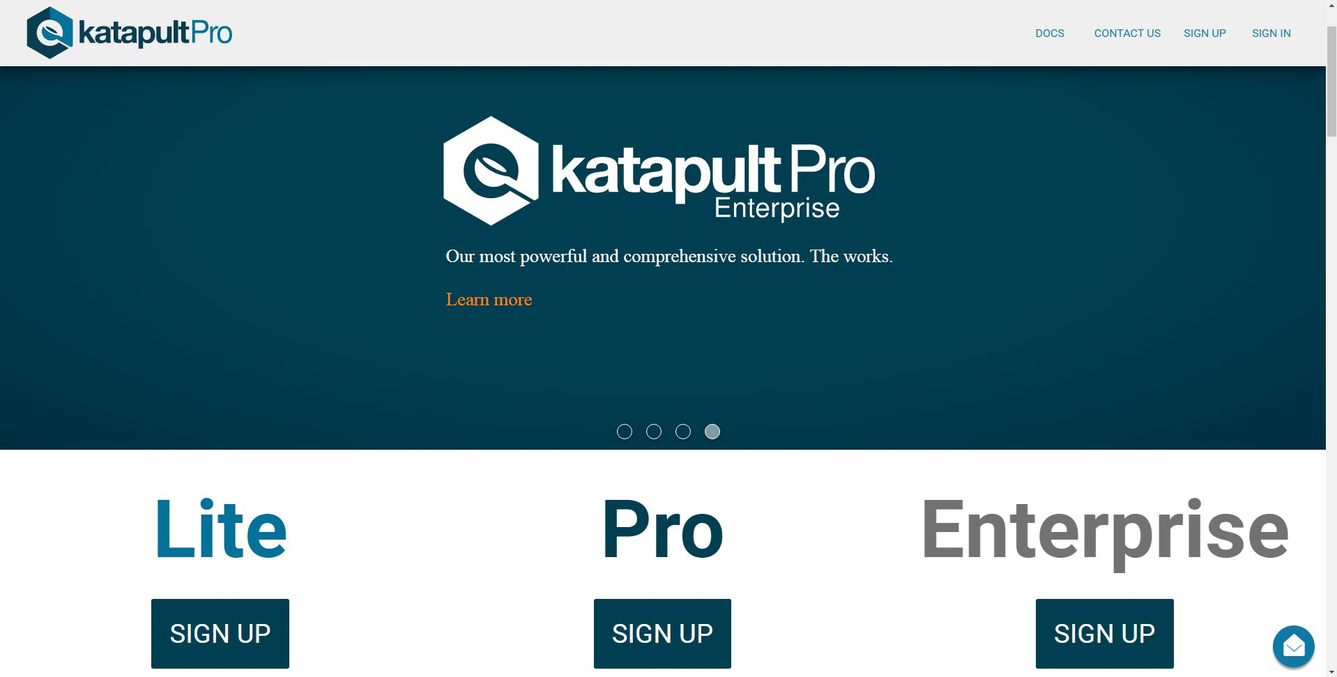 image displaying the various katapultPro subscriptions