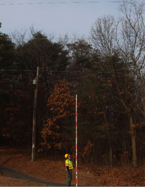 a midspan photo between two poles