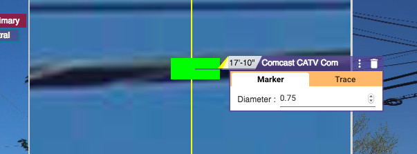 adjusting the cable diameter of a given wire within KatapultPro