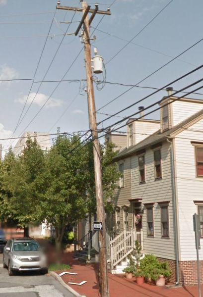 a telephone pole on Google street view
