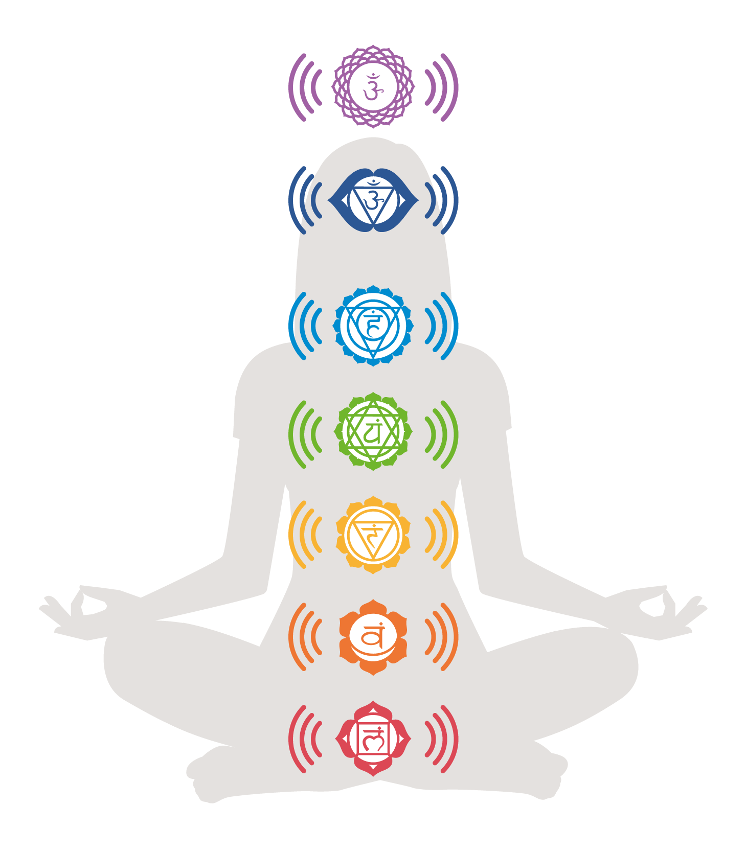 The Eight Chakras vibrating to sound.