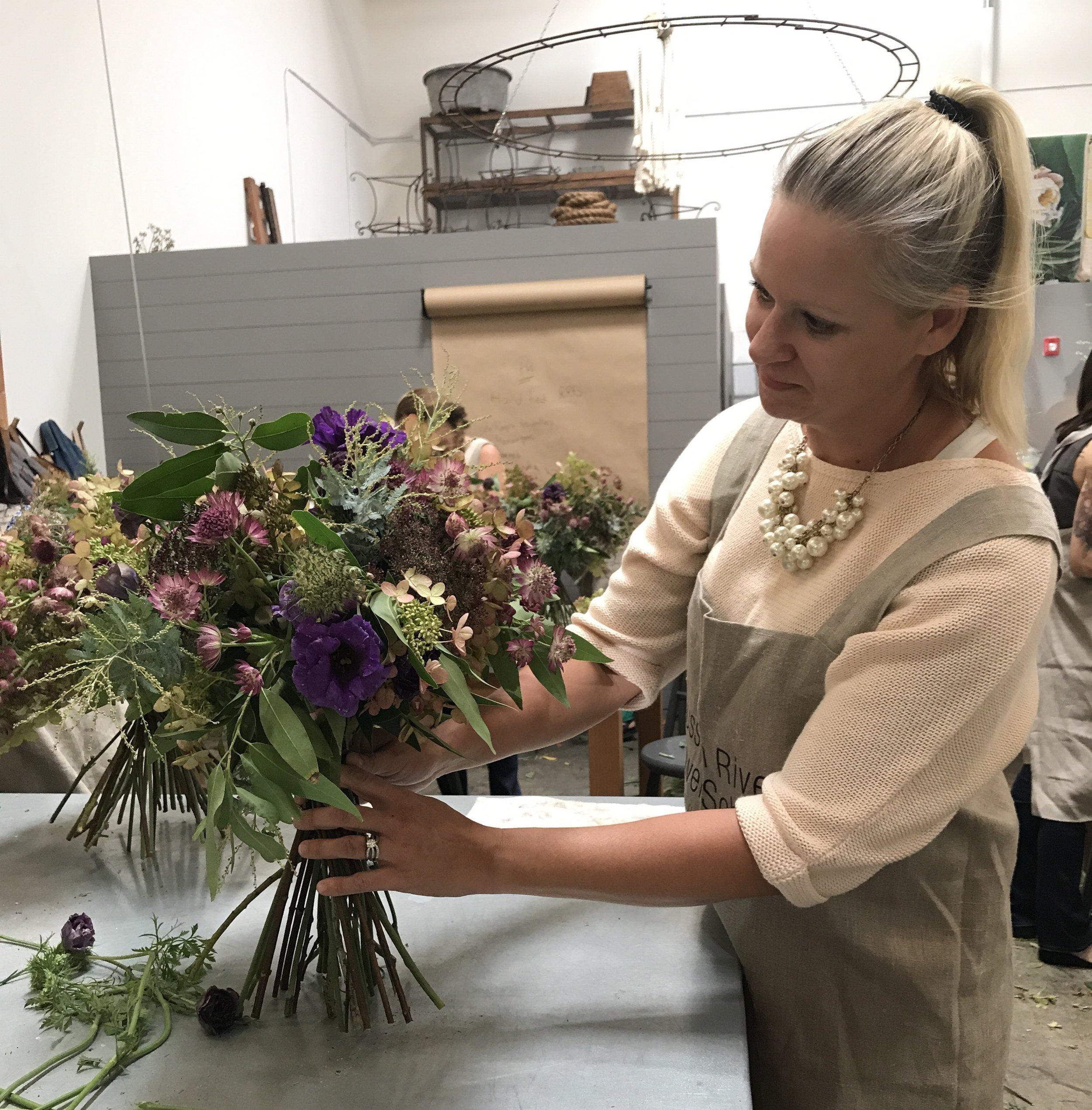 Pure Bloom Flowers - wedding bouquet - making.jpg