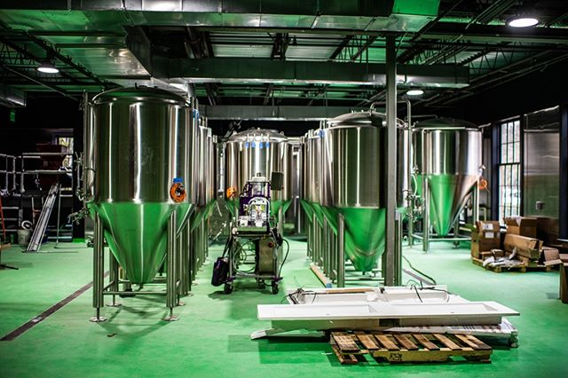 The optimist in us says this brewery is half full. At the new Precarious Beer Hall, we are starting with 100 barrels (3,100 gallons) initial tank capacity and have the ability to expand to 220 barrels (6,820 gallons) of tank capacity. That's 80-100 kegs per week to start with, and we could end up producing up to 200 kegs per week at full capacity, or 1,000 cases of 16 oz cans. Get thirsty, Williamsburg, because we plan on running this place full tilt.⁣ ⁣ .⁣ .⁣ .⁣ ⁣ #beerofinstagram #beeroftheday #loveisbrewing #craftbeercommunity #craftbeerculture #supportsmallbreweries #beerweek #beerthings #craftbeerstagram #drinklocalbeer #drinkallthethings #wishyouwerebeer #girlswhodrinkbeer #drinkingoutsidethebox