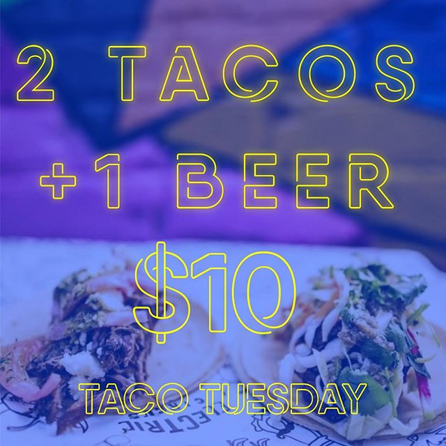 Have you heard the news!? 2 of our killer tacos, and a @precariousbeerproject beer for only $10!? 😳🤯 . . It goes down this Tuesday! Be here, or be square (or hungry and thirsty)... . . #tacotuesday #killerdeal #feedme #tacoporn #streettacos #tacosandbeer #beerandtacos #tacosarelife
