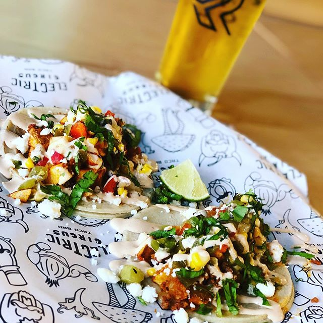 Two 🌮s and a Beer for just $10! 😱🤗 come by and celebrate the best day of the week, Taco Tuesday!! Happening now until 10pm, at the @precariousbeerproject  Beer Hall!