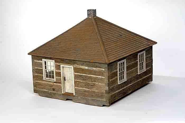 LOG SCHOOL HOUSE, 1945