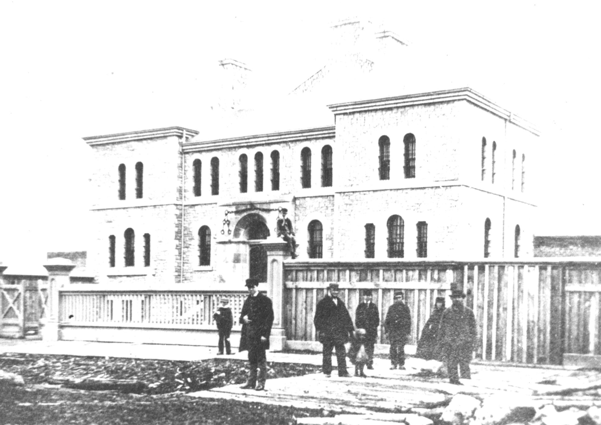 Photo of Gaol taken circa 1865