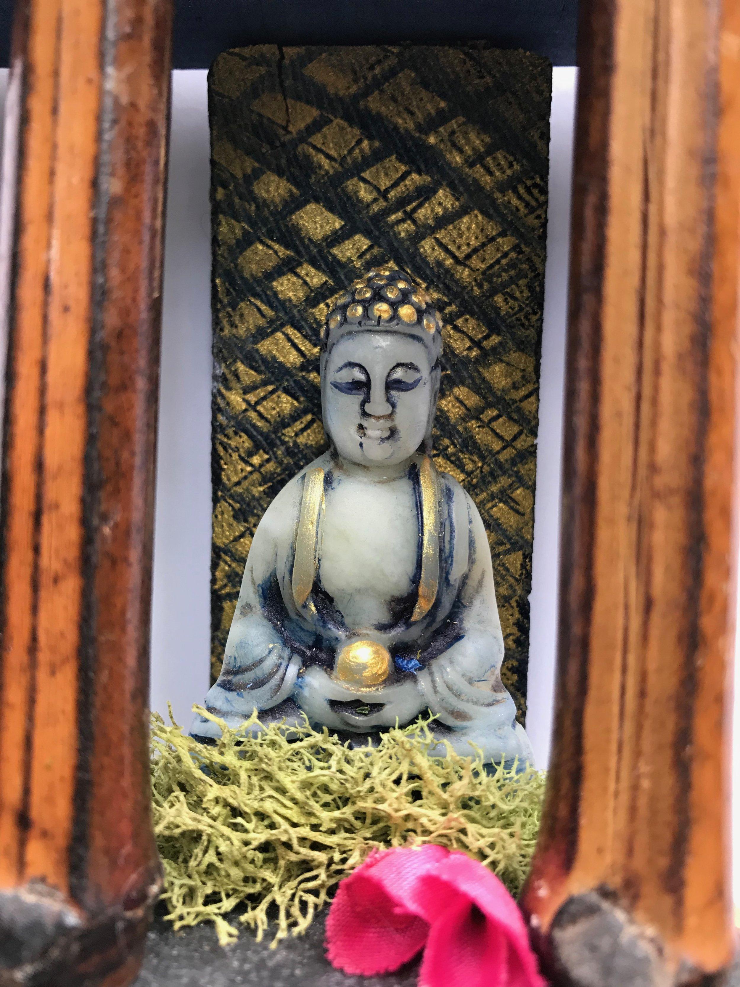Laura-Trisiano-Beyond-mixed-media-assemblage-small-sculpture-walltar-altar-temple-wall-sculpture-yogi-art-meditative-art-sacred-art-shrine-Buddha-yogic-art-yogini-art-NJ-artist-peaceful-meditation-Tibetan-bell-found-object-jade-bamboo-6.jpg