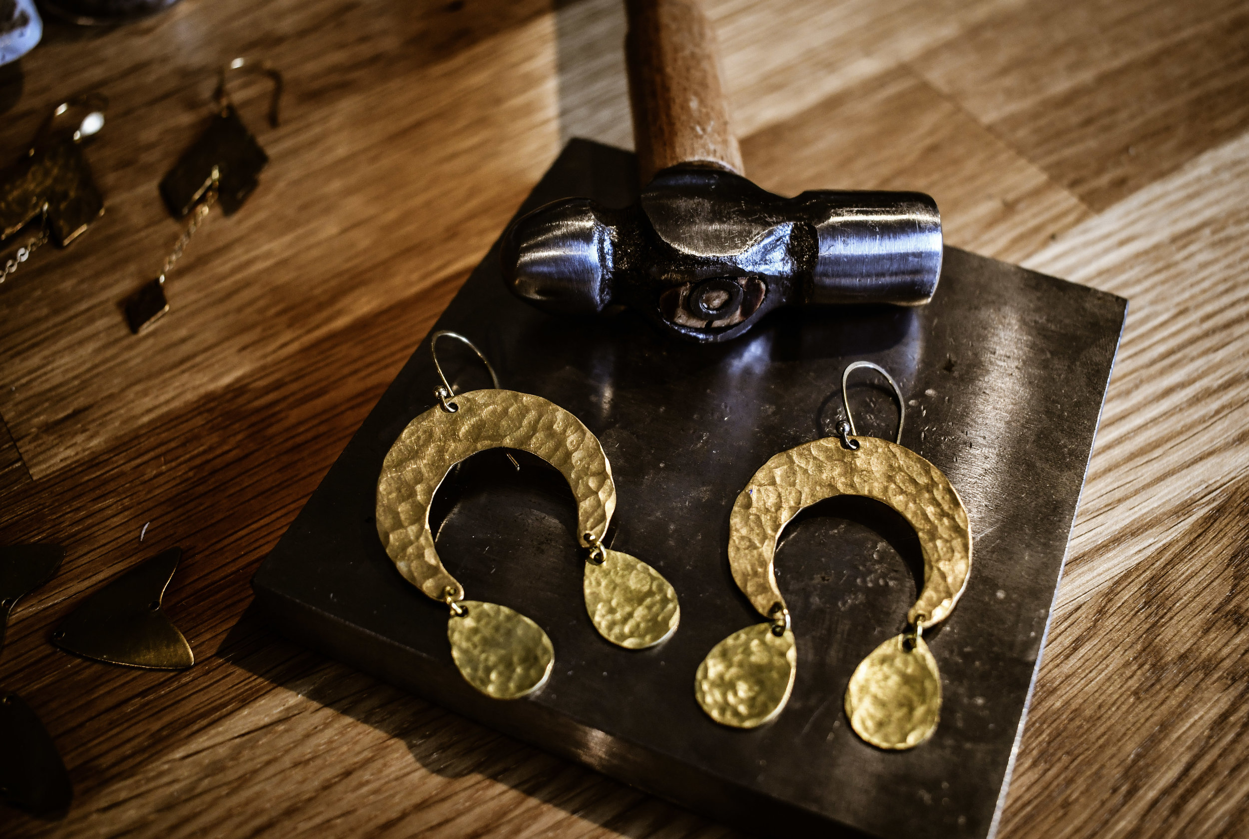 hammered brass earrings 2.jpg