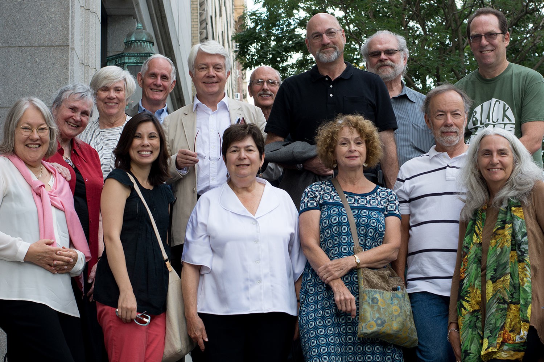 Garn Press authors at the Garn Press author celebration. New York, NY