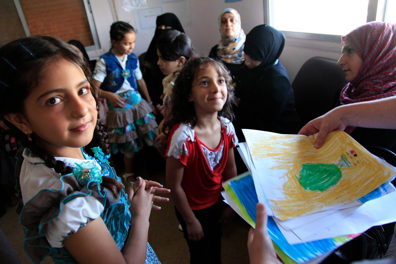 Syrian children at a clinic in Ramtha, northern Jordan. Photo: Russell Watkins/Department for International Development