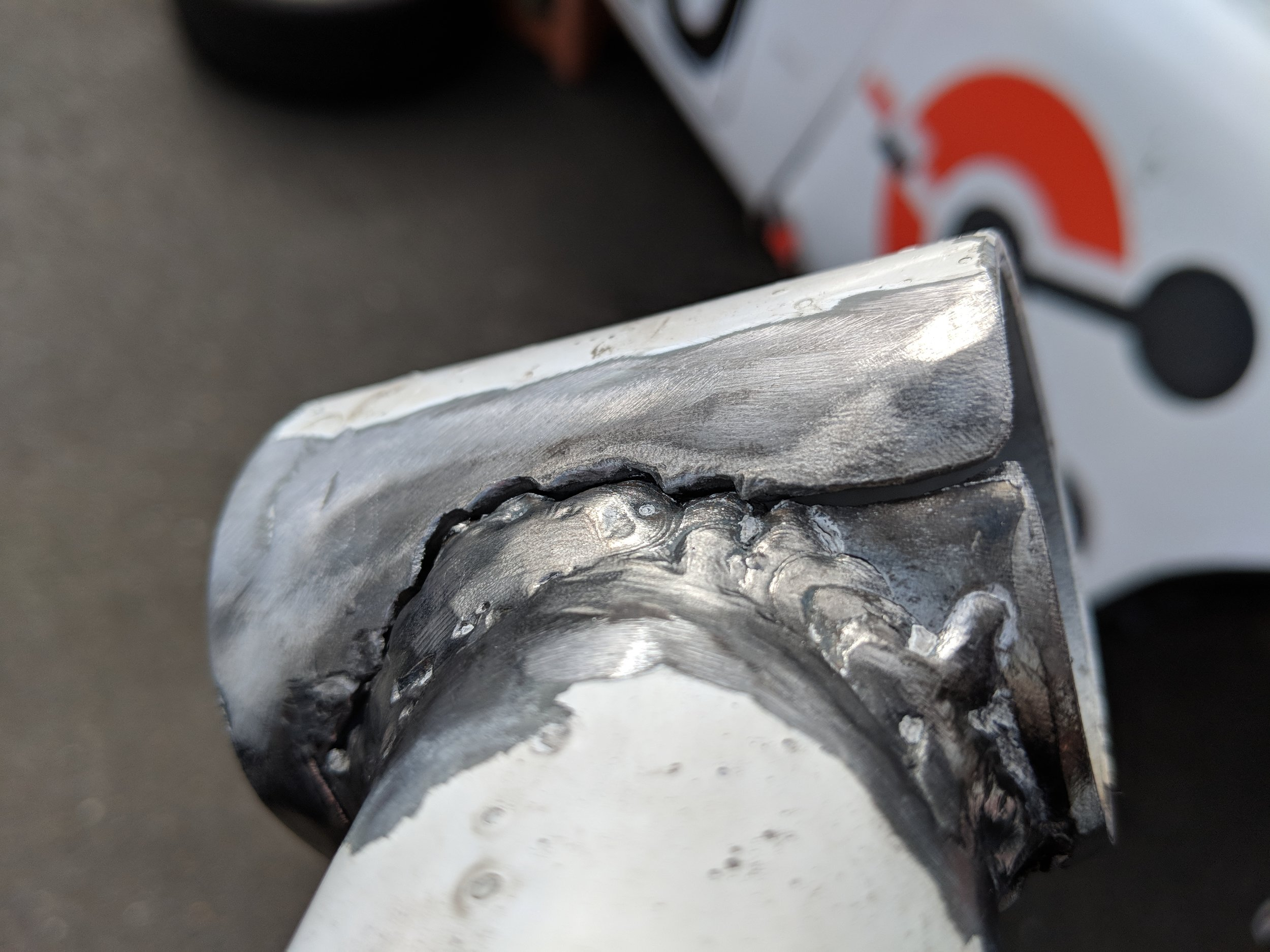 Gearbox mount might have had too much heat-effect