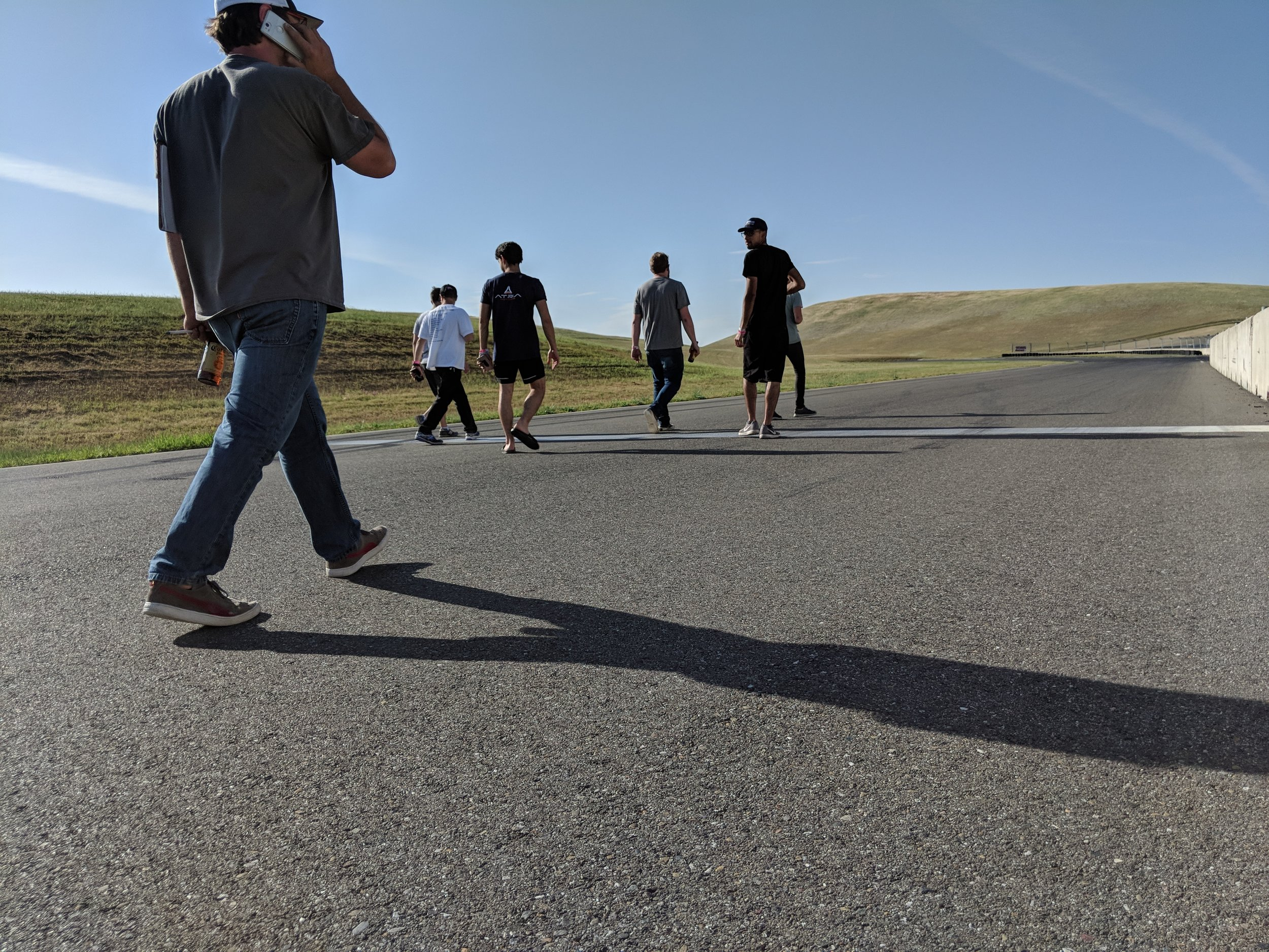 track walks with the team…always better with a beer