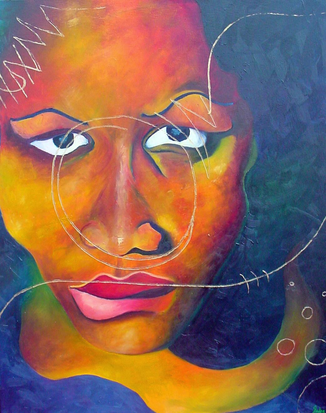 Damsel  Oil on Canvas 30 x 24 in.
