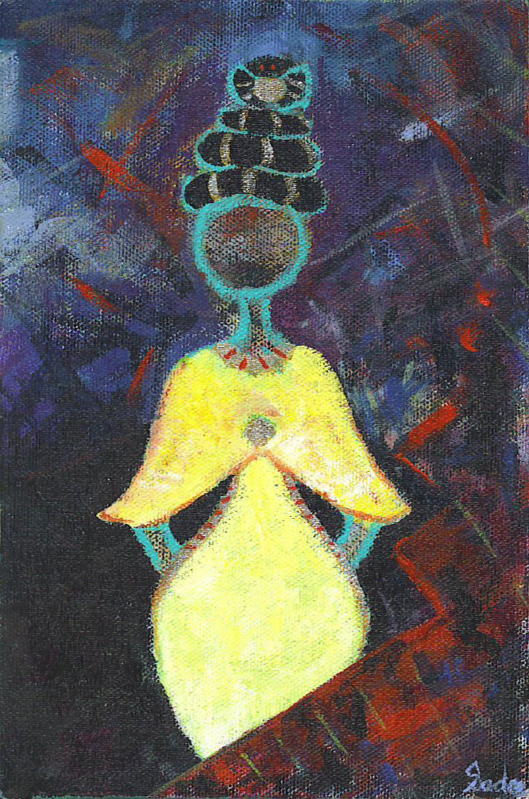 Lady in Waiting  Acrylic on Canvas 9 x 6 in.