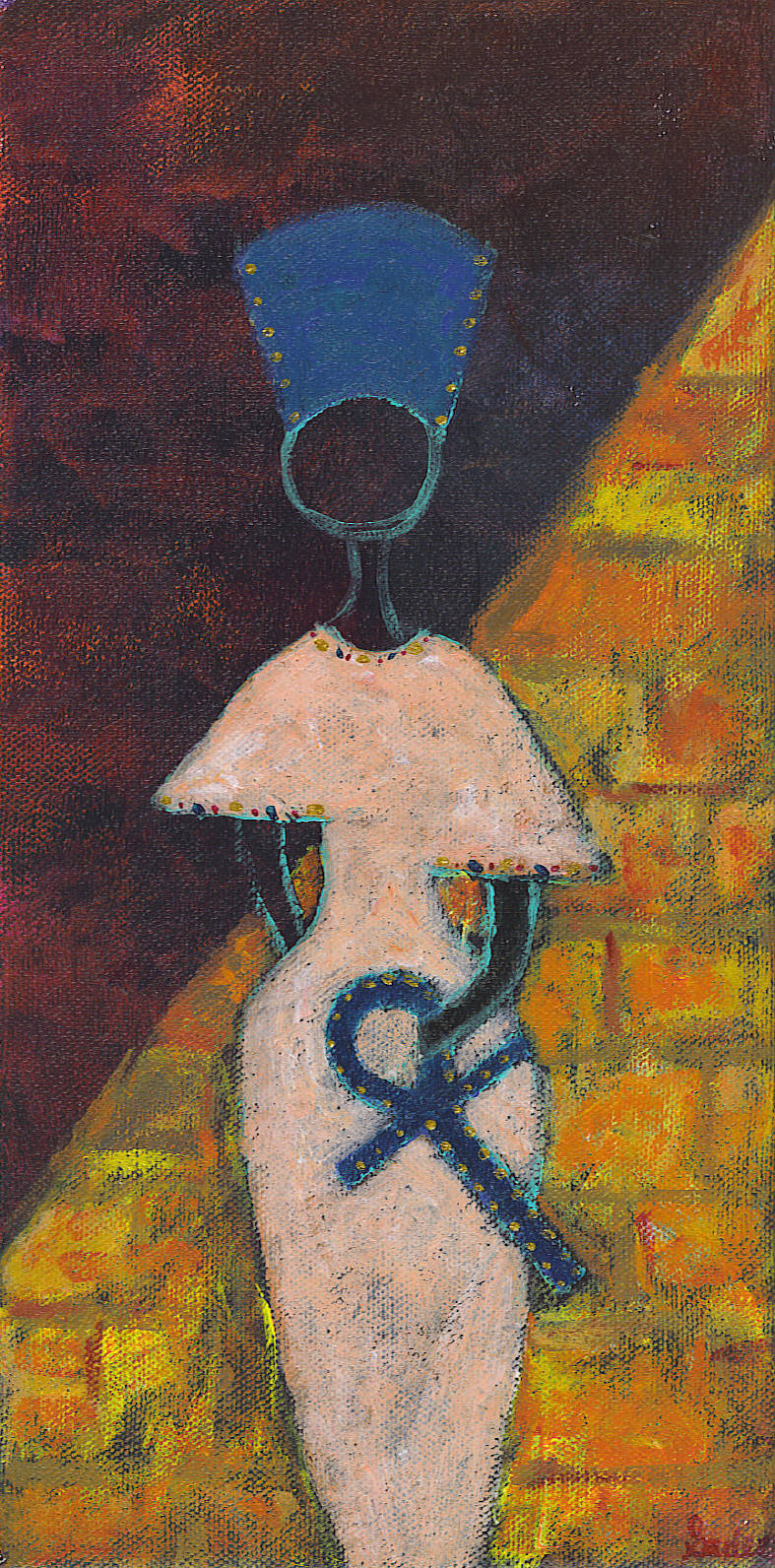 Egyptian Woman  Acrylic on Canvas 12 x 6 in.