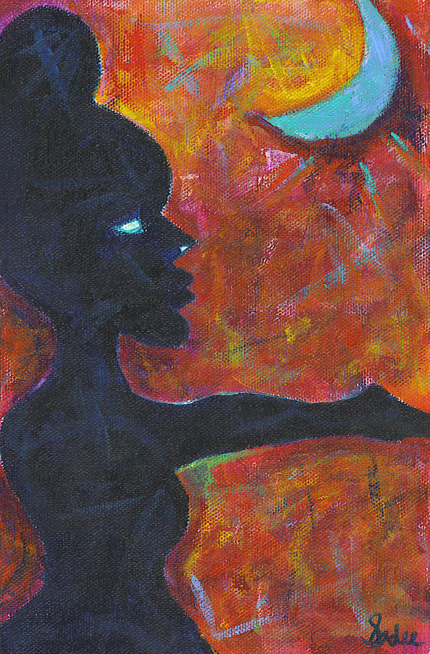 Moon Worship  Acrylic on Canvas 9 x 6 in.