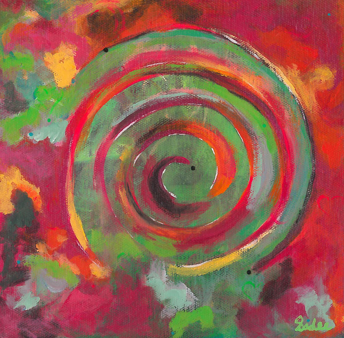 Spiral  Acrylic on Canvas 8 x 8 in.