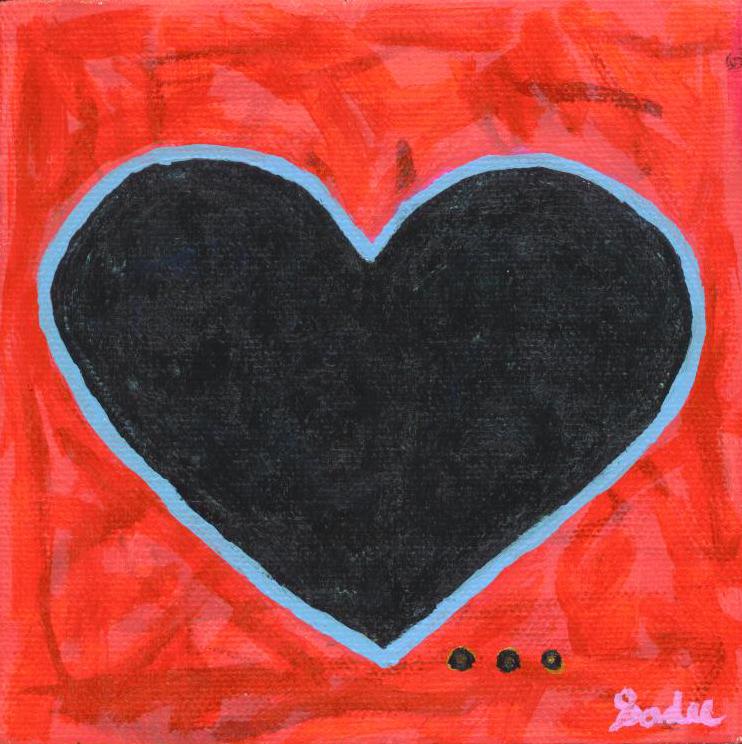 Heart  Acrylic on Canvas 5 x 5 in.