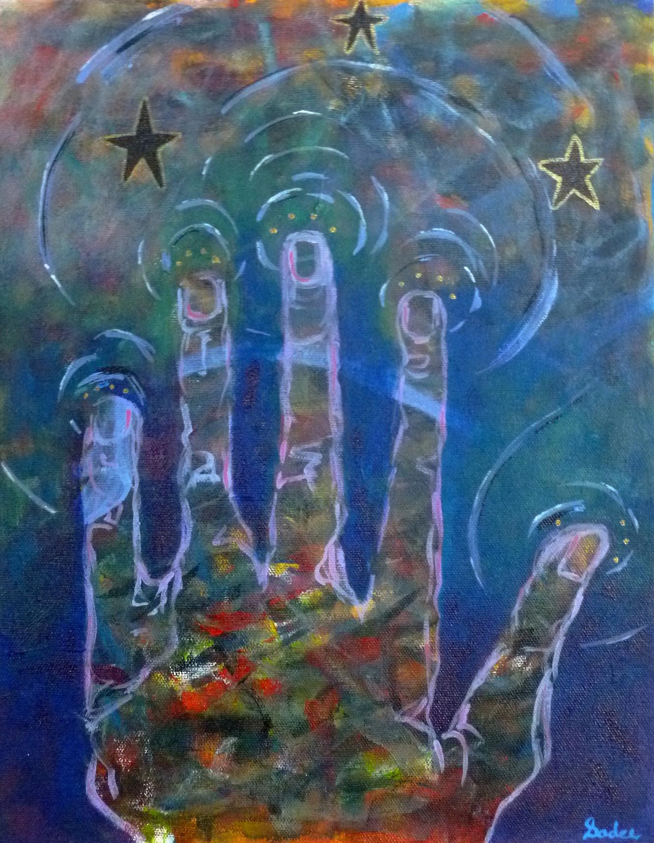 Magic  Acrylic on Canvas 14 x 11 in.