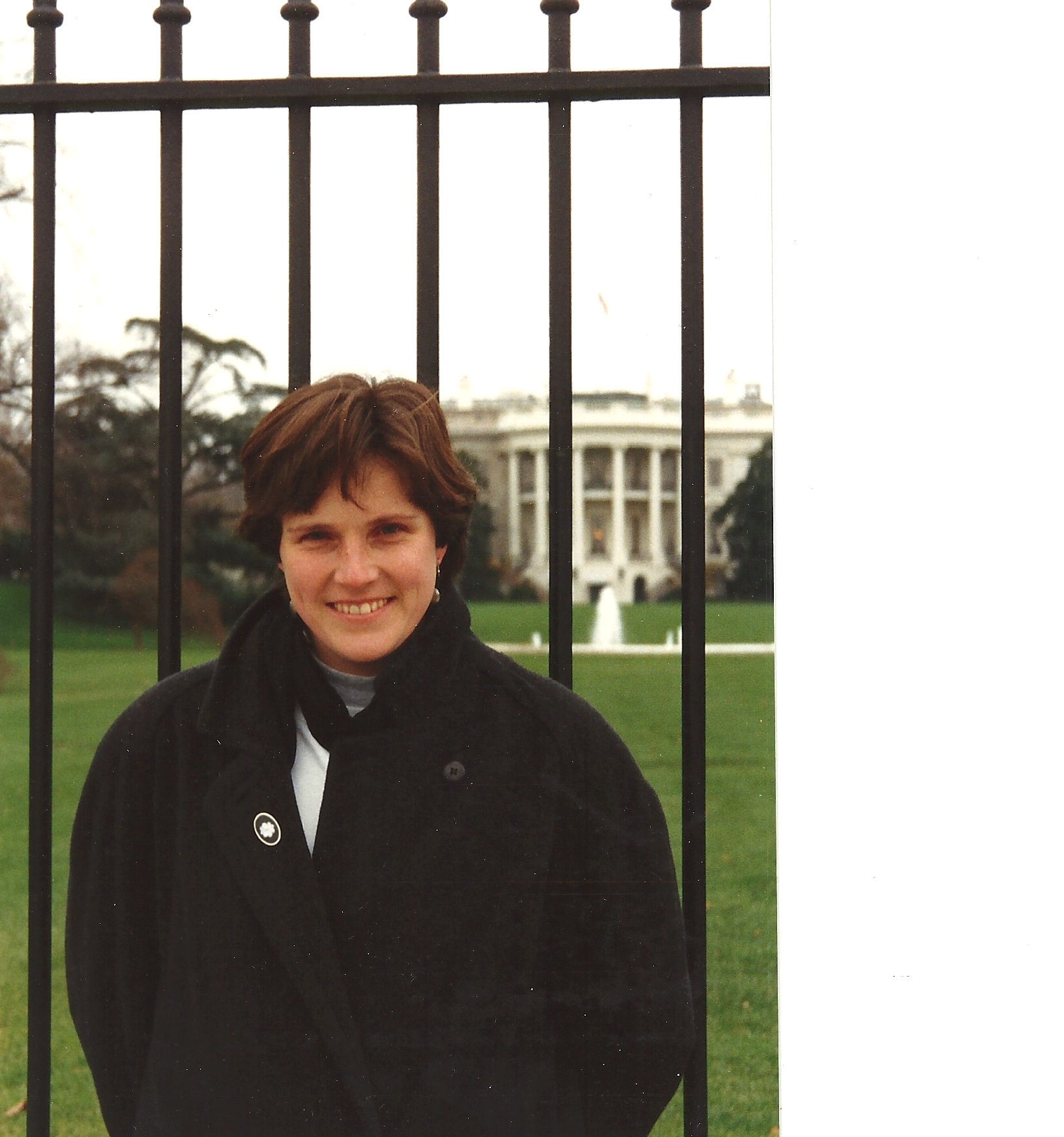 At The White House, 1990