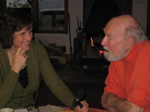 With Pete Seeger, 2008