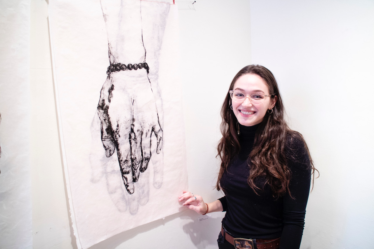 """Lucy Plowe presents a piece of her print installation, """"Fear No Fate"""", in the New Prints/Summer 2018 show at the International Print Center New York (*). Click image to view on her website."""
