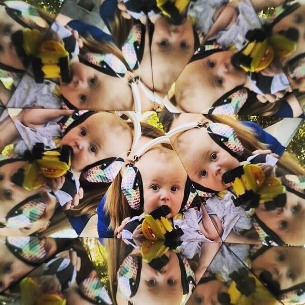 We'd love to see your kaleidoscope pics! This piece by #pussyhatproject co-founder and @welcomeblanket founder, @jaynazaweiman is all about seeing things from a new perspective. #valleypride2019