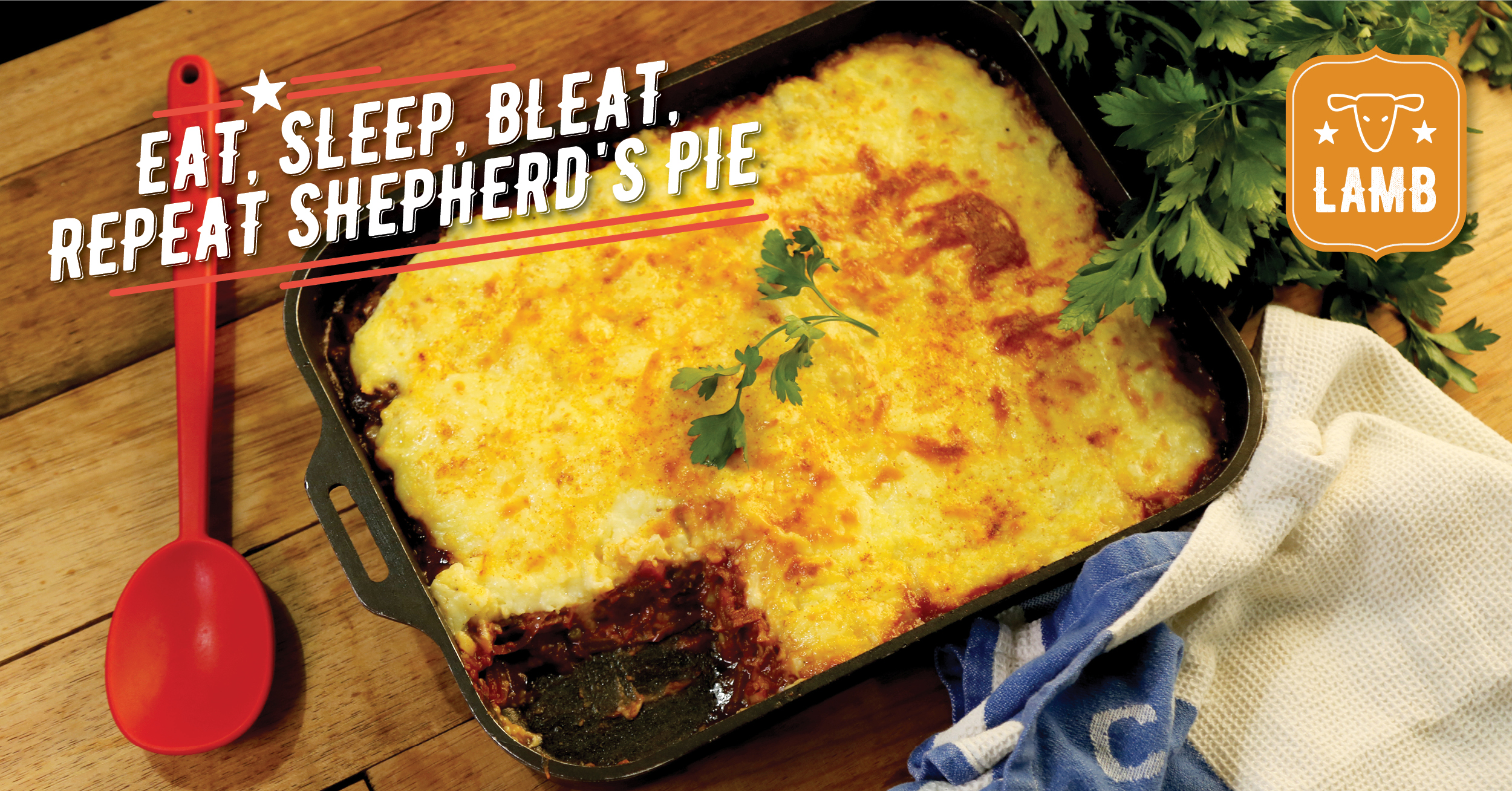 Eat, Sleep, Bleat, Repeat Shepherd's Pie