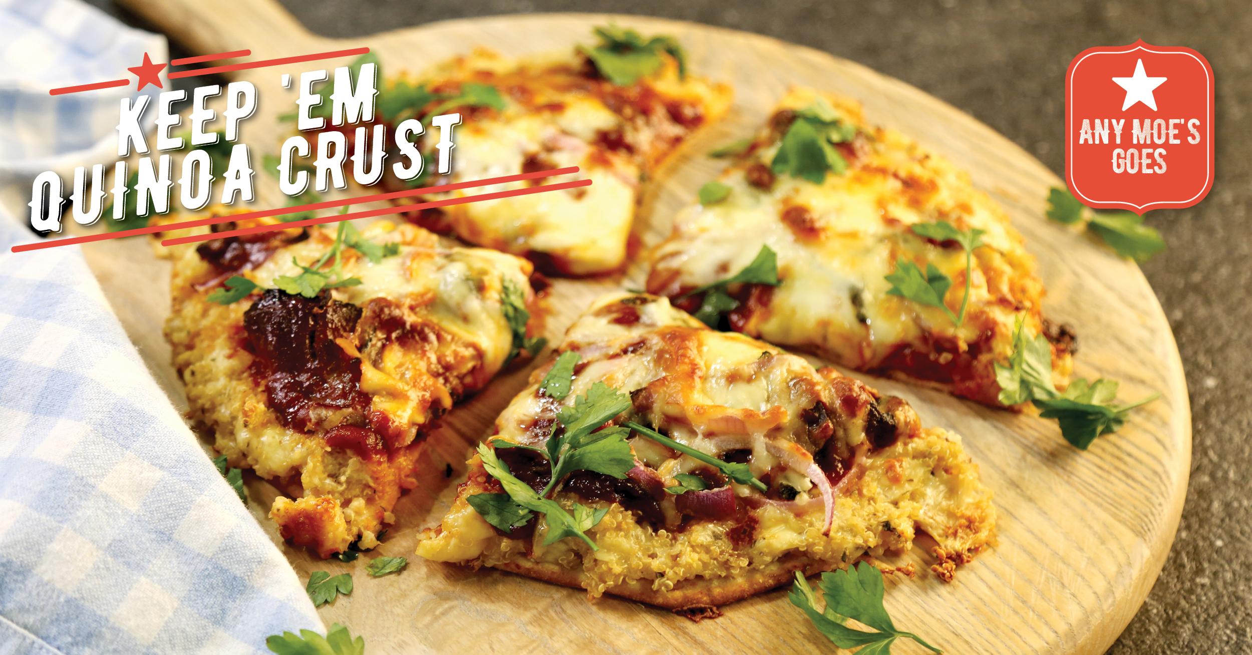 Keep 'Em Quinoa Crust