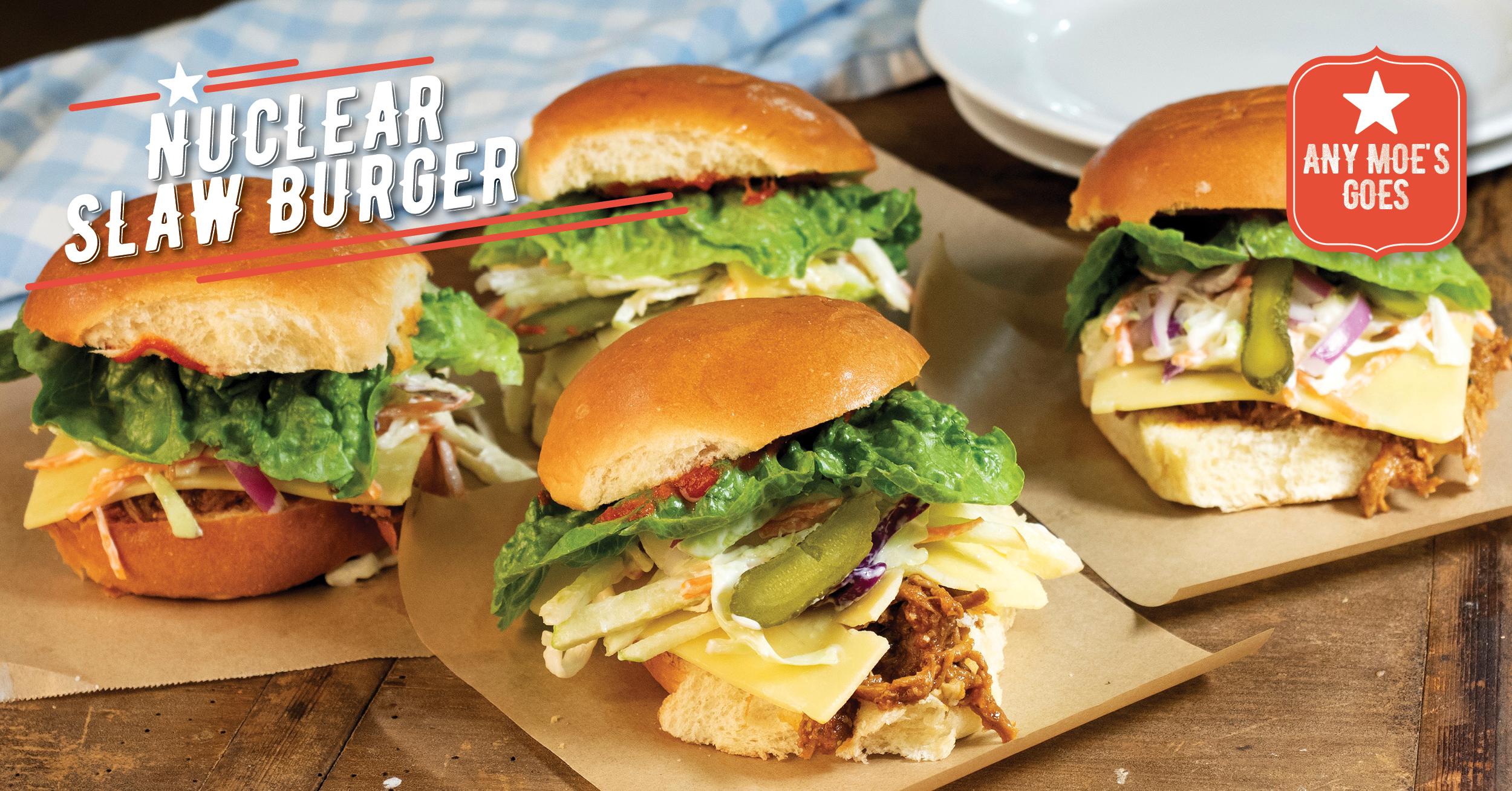 Nuclear Slaw Burger