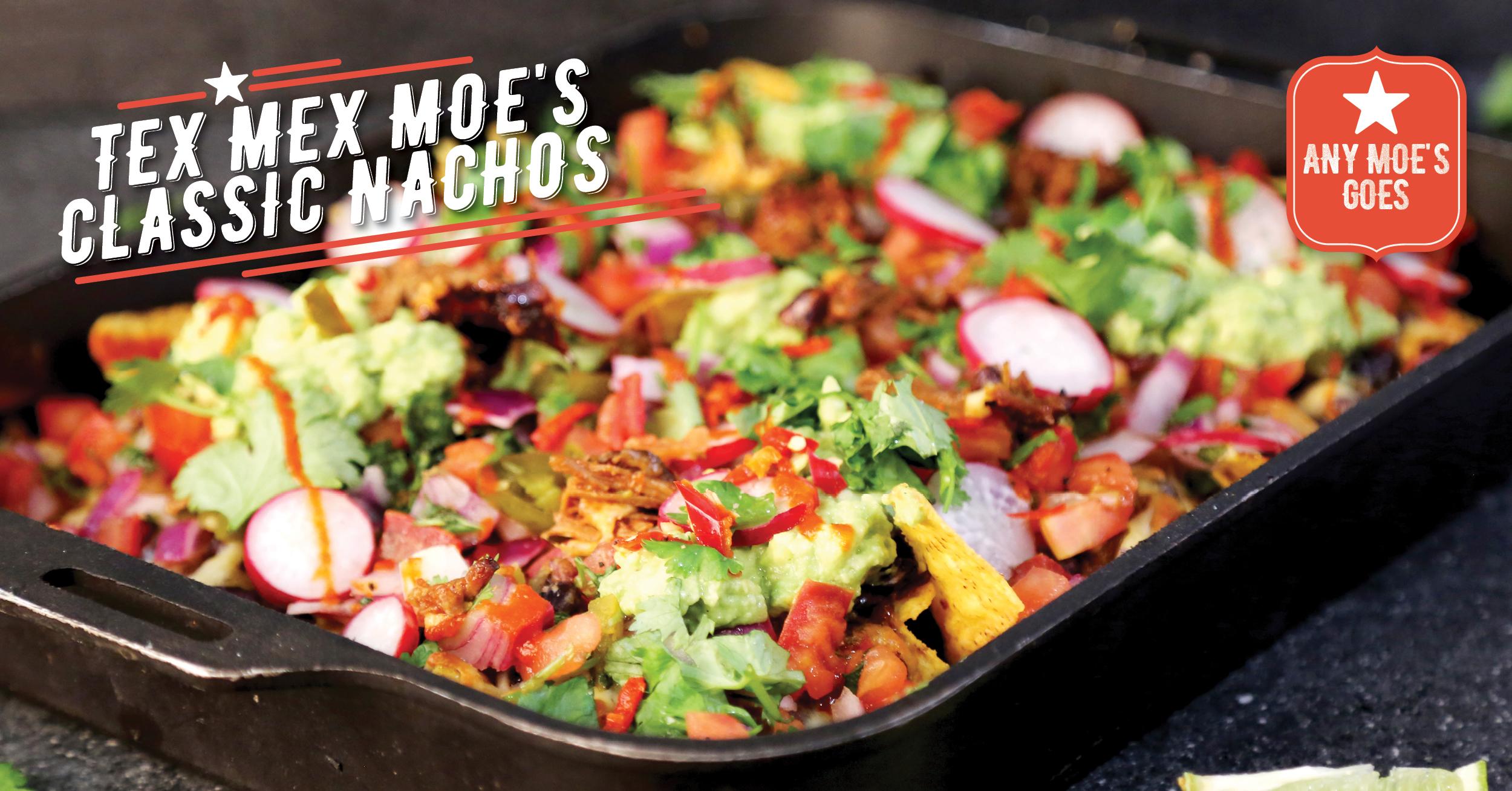 Tex Mex Moe's Classic Nachos