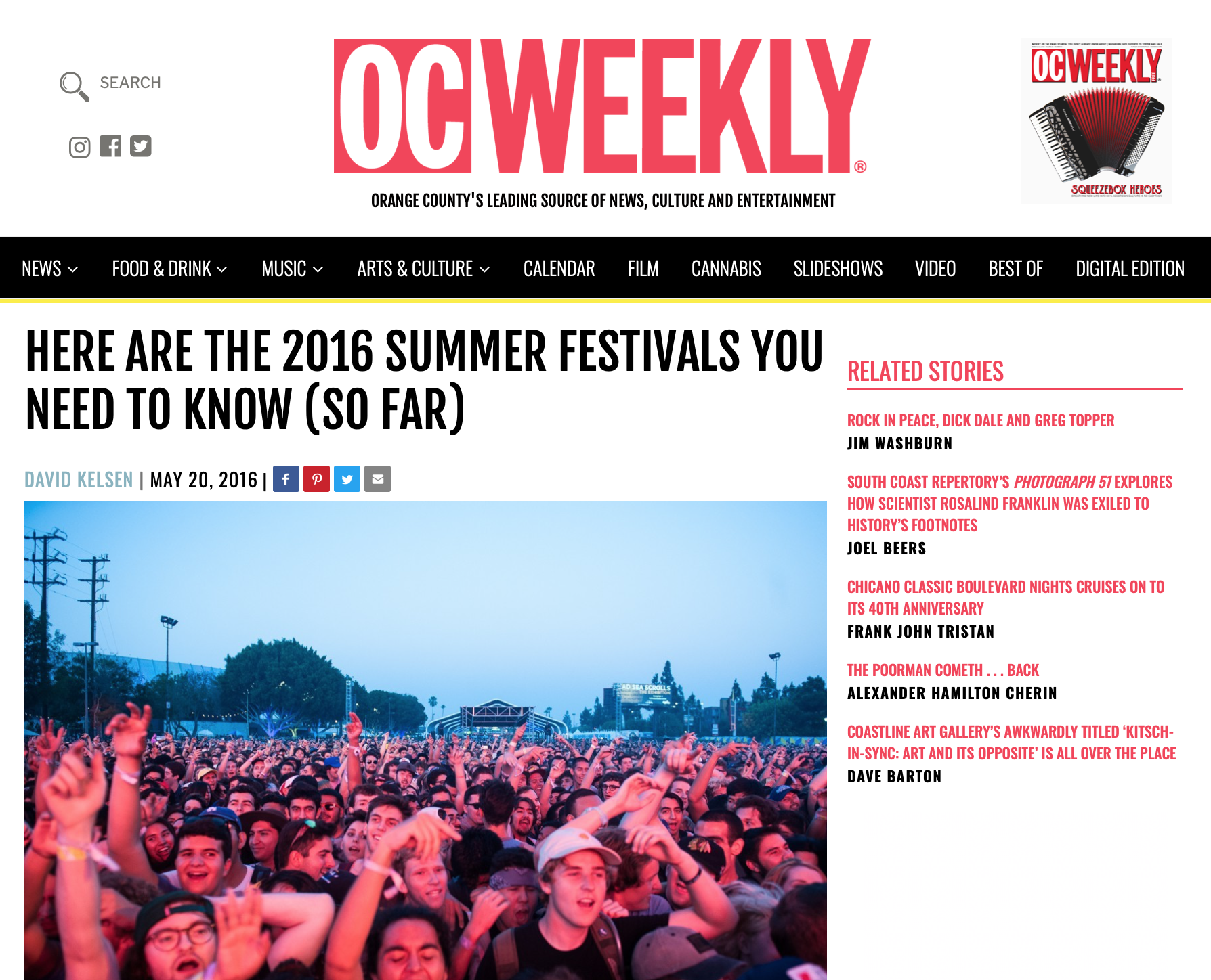 2016 SUMMER FESTIVALS YOU NEED TO KNOW - OC Weekly -