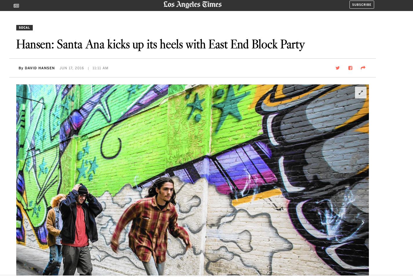 """Santa Ana kicks up its heels with East End Block Party"" -"