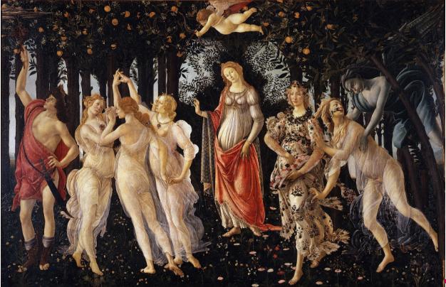 """Sandro Botticelli, """"Primavera"""". Image: Wikimedia Commons/public domain"""