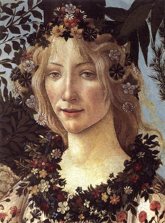 "Detail, ""Primavera"". Sandro Botticelli. Wikimedia Commons/public domain."