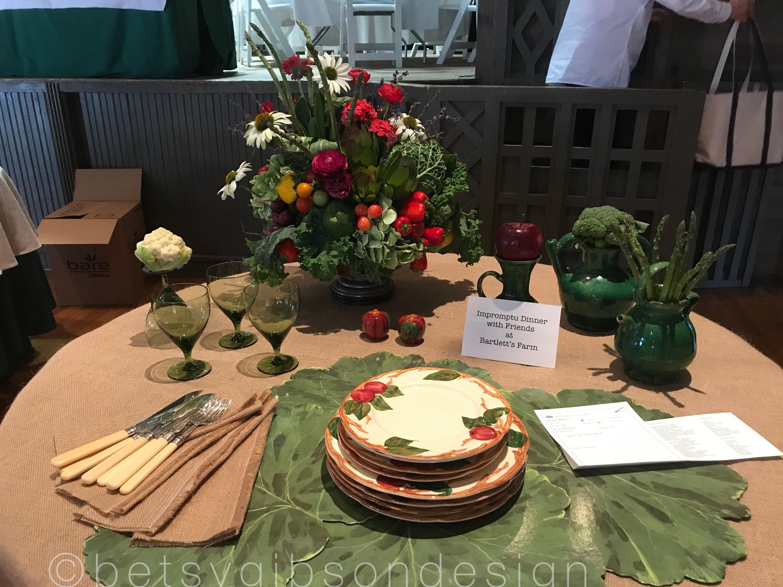 Bartlett's Farm Tablescape. Designers' names to come!