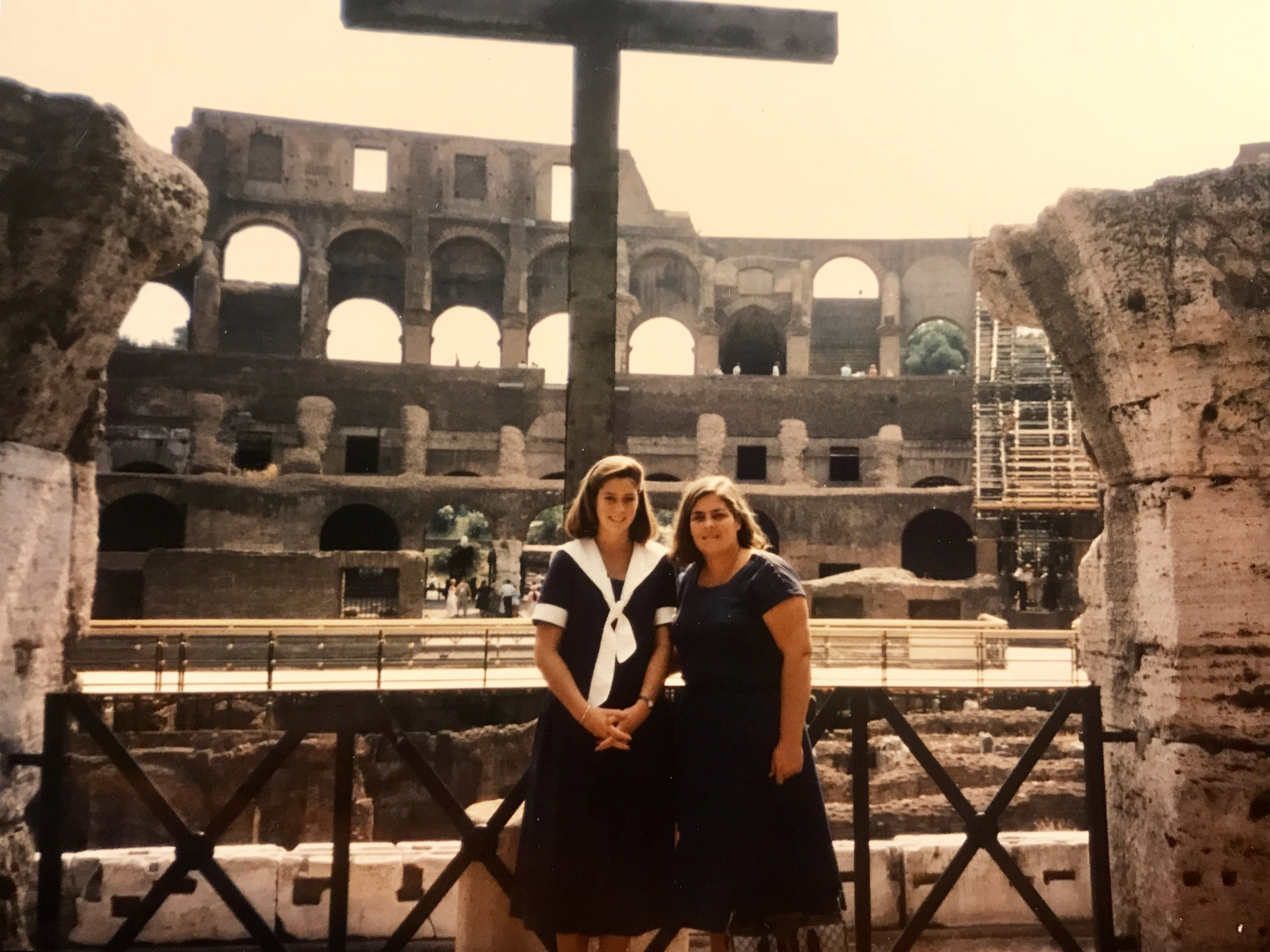 Betsy and Mom, Rome, 1985.