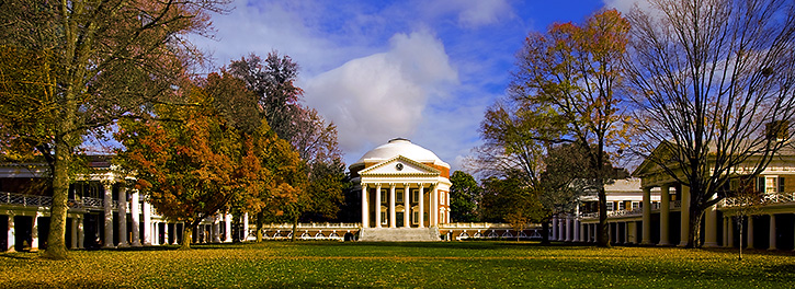 The Lawn. University of Virginia. Photographer Unknown.