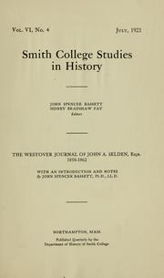 The Westover Journal of John A. Selden, Esq., Armistead and Bassett, Smith College. Image: Library of Congress