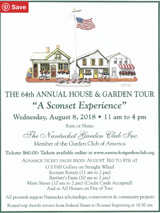"Tour Program, ""A Sconset Experience"" 2018."