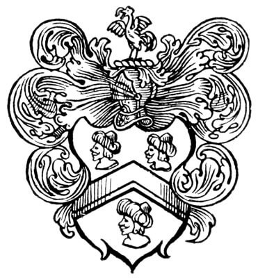 Capt. John Smith's Coat of Arms. (Source: Burton, Alma  Builders of Our Nation,  Chicago: Eaton and Company, 1914. Public Domain)