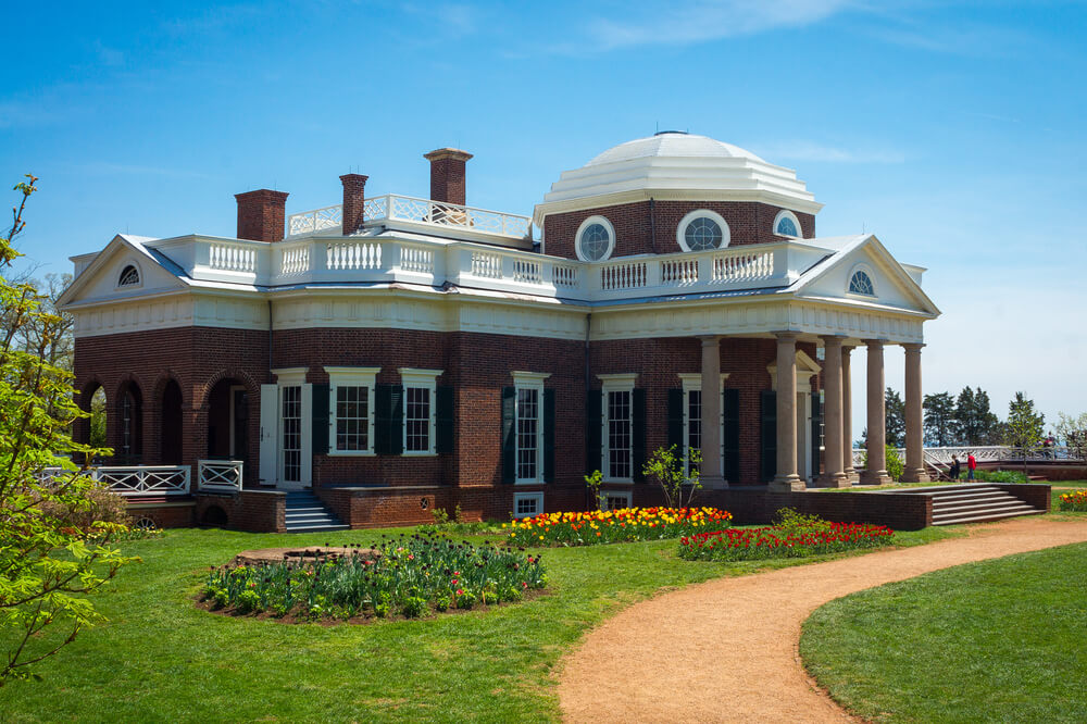 One of my favorite things about Charlottesville is the RED CLAY! And yes, here is an image of one of the oval flower beds at Monticello.