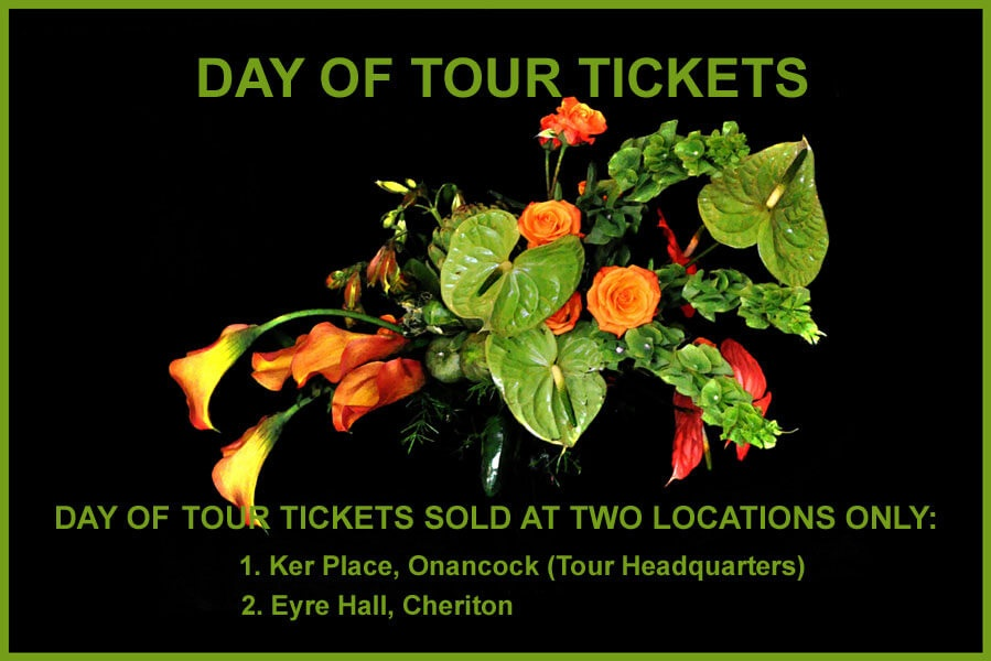 If this notice regarding Day of Tour Tickets is any indication, tomorrow is going to be BEYOND spectacular!! ©esgardentours.com