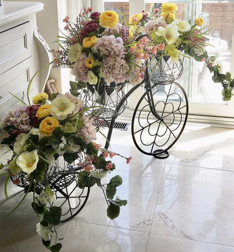 The Floral Edit Yorkville Village - Custom designed floral bike will be on display every Wednesday, until the end of August, in the lane at Yorkville Village.Be sure to tag us with your photos.
