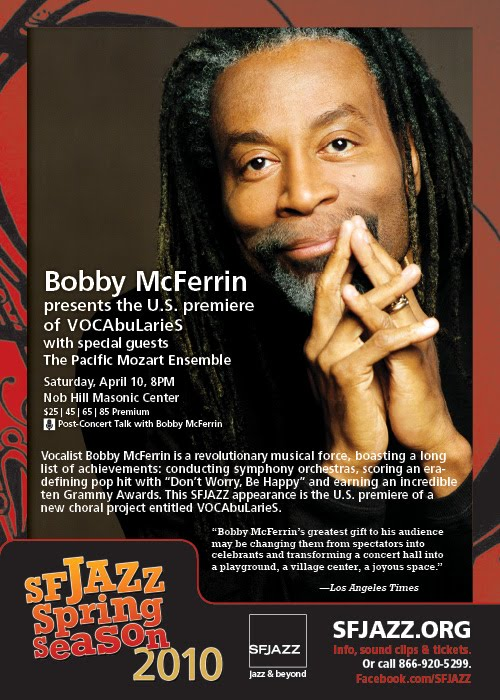 Bobby McFerrin's VOCAbularies (April 2010)