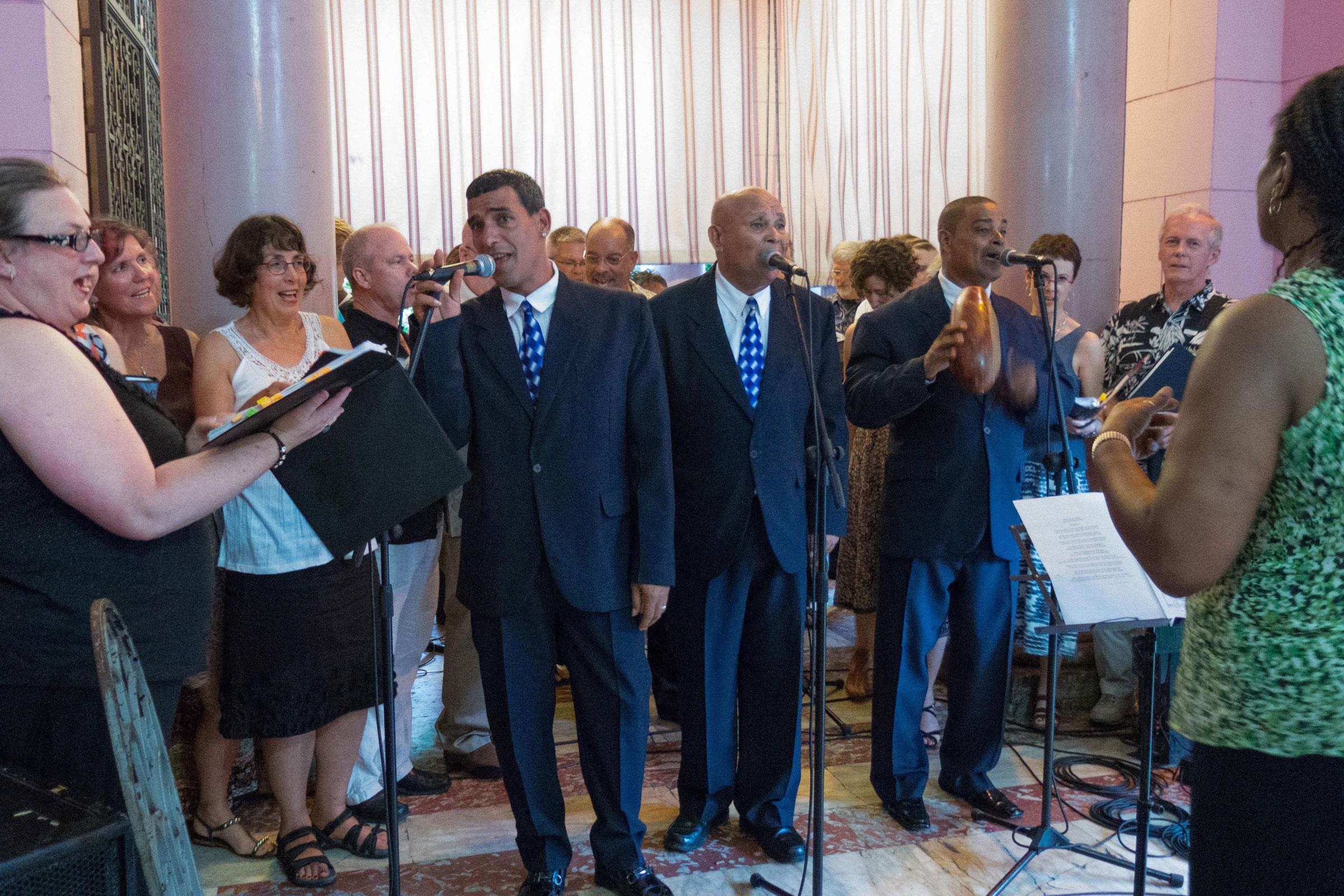 Singing with the Jorrin Orquestra, Cuba Tour (June 2013)