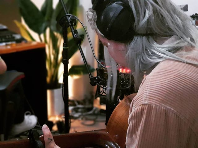 #tbt to @misspopo in the studio. Already keen to get back to business with the boiz @theloudnoiseestate - - #matonguitars #beyerdynamic #excuseforanexit