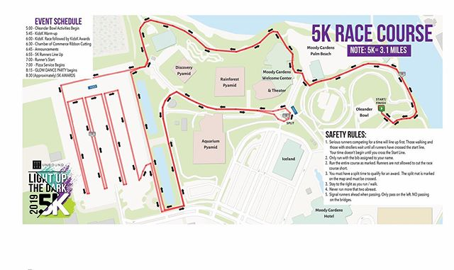It's race week! Here's a look at the courses for the 5K and the Kids' K! Take a look to get familiar with your route! We'll see you soon!