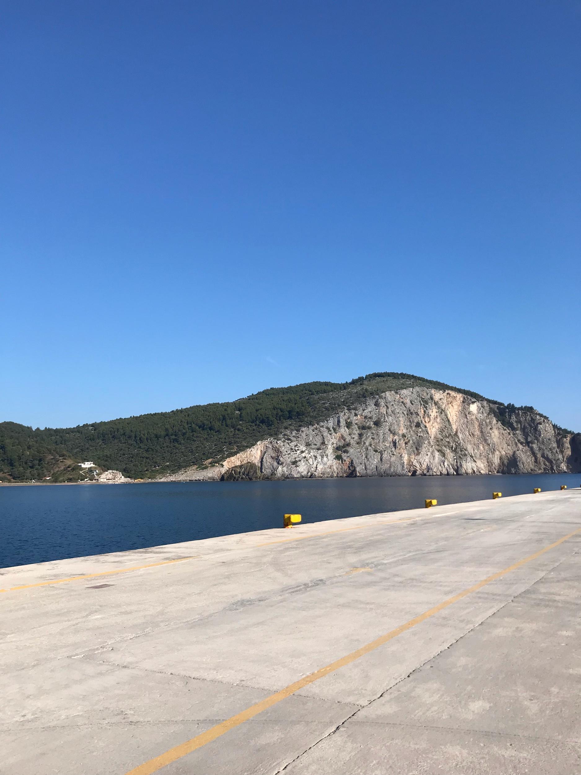 Port at Mantoudi on Evia